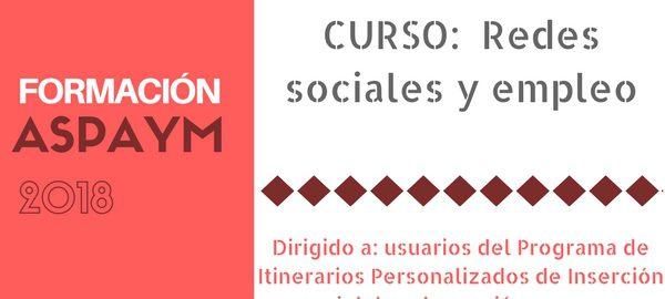 Banner curso redes sociales y empleo