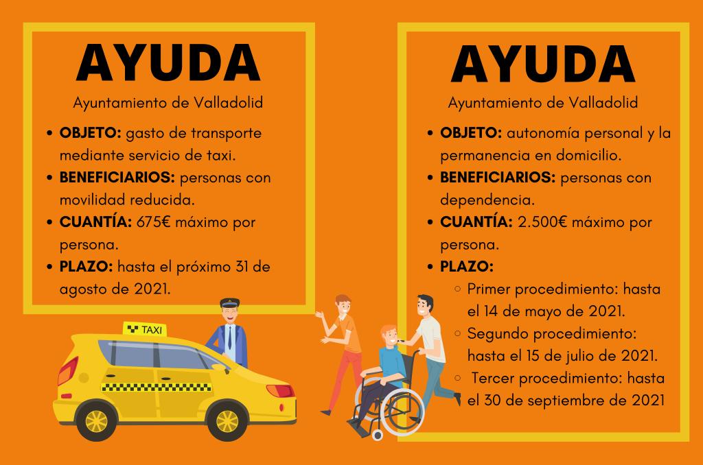 Ayudas del Ayuntamiento de Valladolid que puedes consultar en el enlace al boletín