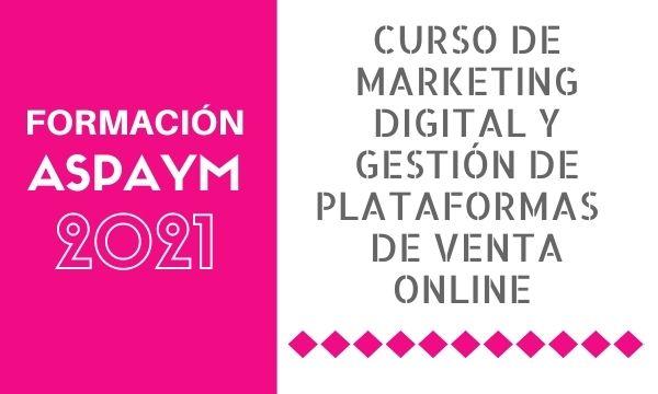 Curso de marketing digital y gestión de plataformas de venta online